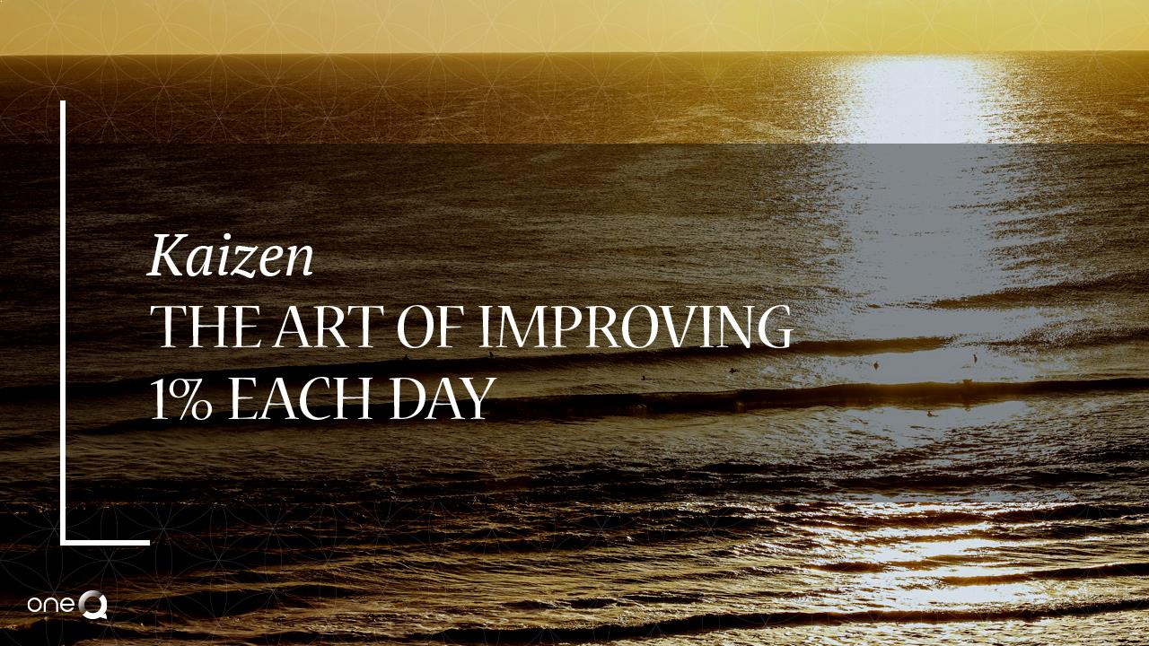 Kaizen: The Art of Improving 1 Percent Each Day - Simply One Question - One Q